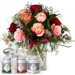 Romantic Roses with Gottlieber tea gift set